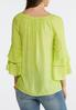 Plus Size Scalloped Lace Ruffle Sleeve Top alternate view