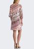 Plus Size Pink Animal Print Swing Dress alternate view