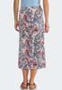 Plus Size Paisley Tie Waist Skirt alternate view