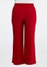 Plus Size Red Tie Waist Pants alternate view