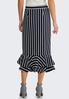 Plus Size Stripe Flounced Skirt alternate view
