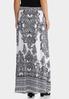 Plus Size Black And White Maxi Skirt alternate view