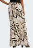 Plus Size Neutral Leaf Maxi Skirt alternate view