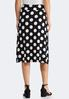 Mixed Dotted Midi Skirt alternate view