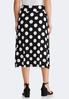 Plus Size Mixed Dotted Midi Skirt alternate view