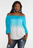 Blue Ombre Gauze Top alternate view