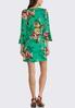 Plus Size Green Floral Dress alternate view