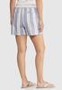 Drawstring Stripe Linen Shorts alternate view
