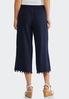 Cropped Pom Pom Linen Pants alternate view