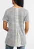 Plus Size Striped Lace Panel Back Tee alternate view
