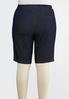 Plus Size Pull- On Denim Bermuda Shorts alternate view