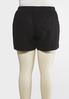 Plus Size Drawstring Linen Shorts alternate view