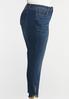 Plus Size Button Detail Denim Jeans alternate view