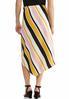 Plus Size Textured Stripe A- Line Skirt alternate view