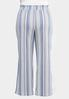 Plus Size Striped Wide Leg Pants alternate view