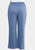 Plus Size Solid Smocked Ribbed Pants alternate view
