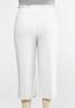 Plus Size Cropped Ruffle Waist Pants alternate view