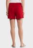 Red Tie Waist Shorts alternate view