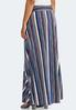 Plus Size Multi Stripe Tie Waist Maxi Skirt alternate view