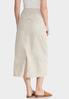 Plus Size Cargo Khaki Skirt alternate view