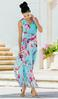 Turquoise Floral Maxi Dress alternate view