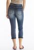Petite Cropped Rinse Wash Jeans alternate view