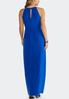 Plus Size Faux Wrap Solid Maxi Dress alternate view