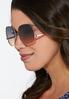 Rose Gold Square Sunglasses alternate view
