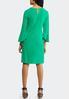Plus Size Green Bell Sleeve Swing Dress alternate view