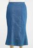 Plus Size Seamed Denim Maxi Skirt alternate view