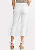 Cropped White Ruffled Jeans alternate view
