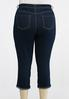 Plus Size Cropped Turn Up Jeans alternate view