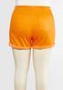 Plus Size Colored Denim Shorts alternate view