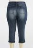 Plus Size Cropped Rinse Wash Jeans alternate view