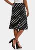 Textured Polka Dot Skirt alternate view