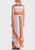 Plus Size Multi Stripe Maxi Dress alternate view