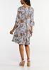 Plus Size Seamed Puff Print Paisley Dress alternate view