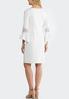 Cold Shoulder White Sheath Dress alternate view