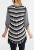 Plus Size Fringed Sweater Vest alternate view