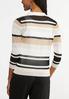 Plus Size Sheer Stripe Cardigan alternate view