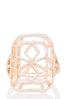 Cutout Rose Gold Square Ring alternate view