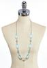 Oval Lucite Chain Link Necklace alternate view