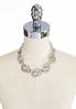 Chain Link Metal Lucite Ring Necklace alternate view