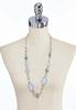 Oval Lucite Link Chain Necklace alternate view