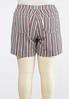 Plus Size Stripe Denim Shorts alternate view