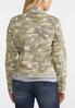 Plus Size Camo Denim Jacket alternate view