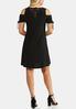 Plus Size Cinched Cold Shoulder Dress alternate view
