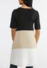 Plus Size Colorblock Hacci Vest alternate view
