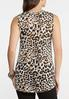 Plus Size Knotted Leopard Tank alternate view
