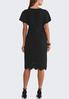 Plus Size Textured Laser Cut Dress alternate view